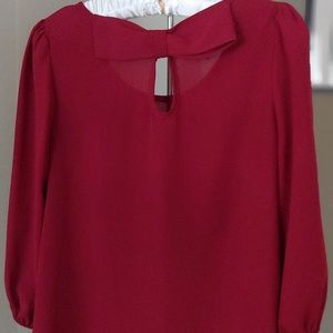 Bella D Red Top with Cute Keyhole Back